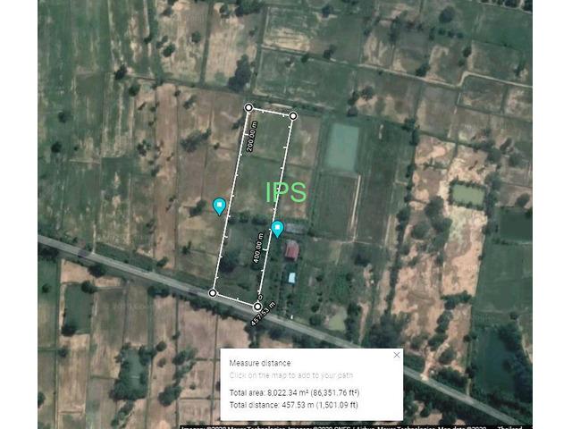 5 rai of land only 8 km  from Buriram